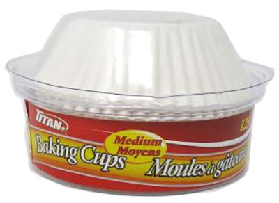 A0075 : Titan A0075 : Cuisine et maison - Matériel de cuisson - Moules Muffins Moyens TITAN,MOULES MUFFINS MOYENS ,48 X 125 UN