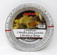 A190-3 : Assiette Tarte Alluminium 9''