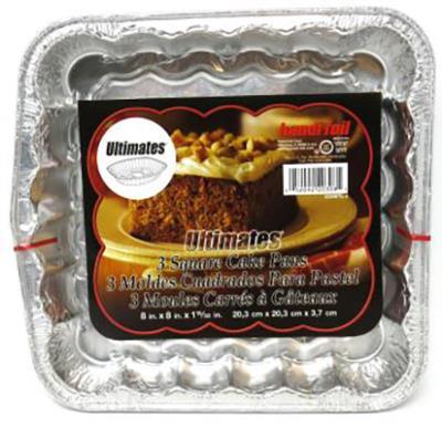 A199 : Titan foil A199 : Cuisine et maison - Matériel de cuisson - Moules Gateau CarrÉ TITAN FOIL,MOULES GATEAU CARRÉ,24X4UN