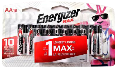 AENAA16 : Energizer AENAA16 : Accessoires & fournitures - Piles - Batterie Aa (16) ENERGIZER, BATTERIE AA (16), 12 CARTE/CS