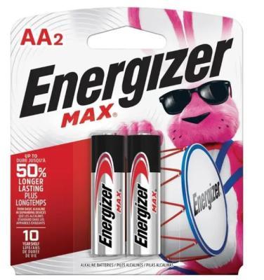 AENAA2 : Energizer AENAA2 : Accessoires & fournitures - Piles - Batterie Aa(2) ENERGIZER,BATTERIE AA(2), 24 CARTES/CS
